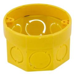Caixa De Luz Octogonal Tigreflex 3X3 Amarela - Tig... - Sertãozinho Construlider