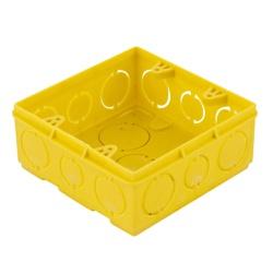 Caixa De Luz Tigreflex 4X4 Quadrada Amarela - Tigr - Sertãozinho Construlider
