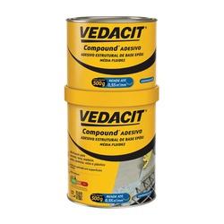Compound Adesivo Componente A+B 1Kg - Vedacit - Sertãozinho Construlider