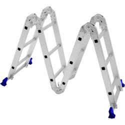 Escada Articulada de Alumínio - 4X3 (12 degraus) - Sertãozinho Construlider