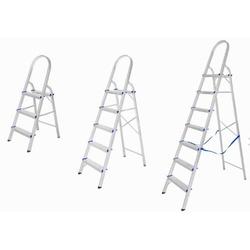 Escada Doméstica de Alumínio - 3, 5, 6 e 7 Degraus... - Sertãozinho Construlider