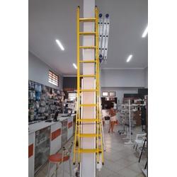 Escada Extensiva em Aço / Amarela - Pekus (6, 8 e ... - Sertãozinho Construlider