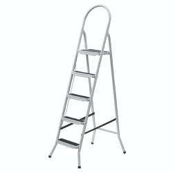 Escada De Aço Branca - 4, 5, 6 e 7 Degrau - Sertãozinho Construlider