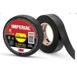Fita Isolante Preta 18mm - Imperial - Sertãozinho Construlider