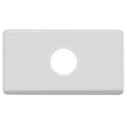 Módulo Tampo Com 1Furo 9,5mm Branco - Tramontina - Sertãozinho Construlider