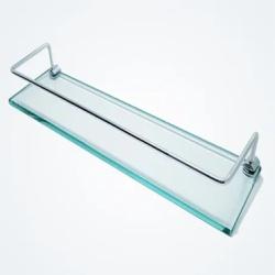 Porta Shampoo 40cm De Vidro Incolor - Comercial Pi... - Sertãozinho Construlider