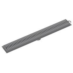 Ralo Linear Com Grelha Cinza 50cm - Tigre - Sertãozinho Construlider