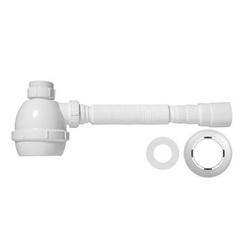 Sifão Universal Flexível Branco Com Copo - Blukit - Sertãozinho Construlider