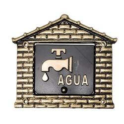 Visor Para Relógio De Água Ouro Nº15 18cmX19cm - F... - Sertãozinho Construlider