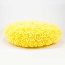 Boina de Lã Super Macia Dupla Face Amarela '8' - 3M - CONSTRUTINTAS