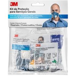 Kit Proteção Individual (audição, Visão, Respiração) - 3m - CONSTRUTINTAS