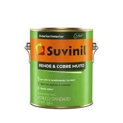 Tinta Acrílica Fosco Suvinil Rende Cobre Muito - 3,6L (Escolha Cor) * - CONSTRUTINTAS