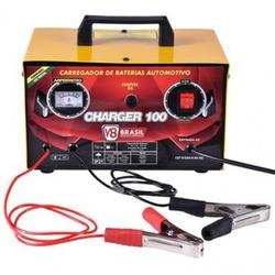Carregador De Bateria Bivolt 12v Charger 100 10a - V8 Brasil - CONSTRUTINTAS