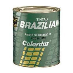 Kit Fundo Primer PU Cinza 750ml + Endurecedor 150ml Quick Brazilian - CONSTRUTINTAS