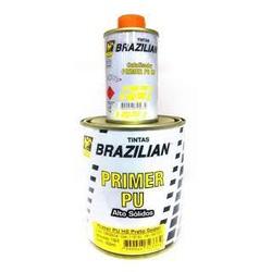 Kit Fundo Primer PU Cinza 800ml + Endurecedor 100ml HS SUPER Alto Sólidos - Brazilian - CONSTRUTINTAS