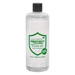 Álcool Gel 70% Antisséptico Eucatex Protect 420gr - CONSTRUTINTAS