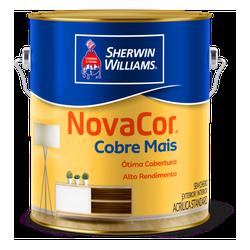 Tinta Acrílica Standard Novacor Cobre Mais Fosco 3,6L (Escolha Cor) - CONSTRUTINTAS