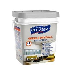 Tinta Acrílica Gesso Branco Eucatex 18L - CONSTRUTINTAS