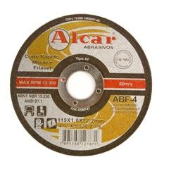 Disco de Corte 115,0mmx1,0mmx22,2mm ABF - 4 Inoxiavel - Alcar - CONSTRUTINTAS