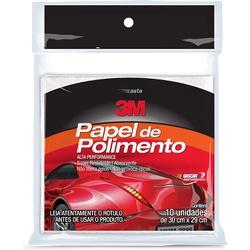 Papel de Polimento - 10 folhas - 3M - CONSTRUTINTAS