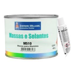 Massa Poliéster para Alumínio - M510 400g - Kit com Catalisador - Lazzuril - CONSTRUTINTAS