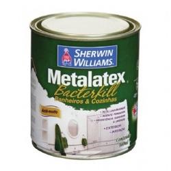Tinta Acrílica Acetinado Branco 900ml - Metalatex Bacterkill - CONSTRUTINTAS