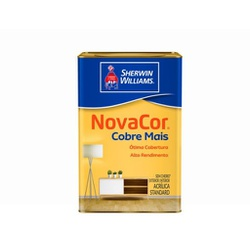Tinta Acrílica Standard Novacor Cobre Mais Fosco 18L (Escolha Cor) - CONSTRUTINTAS
