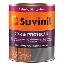 Esmalte Sintético Brilhante 900ml Suvinil Cor&Proteção (Escolha Cor) * - CONSTRUTINTAS