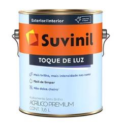 Tinta Acrílica Semi Brilho Suvinil Toque de Luz Branco 3,6L - CONSTRUTINTAS