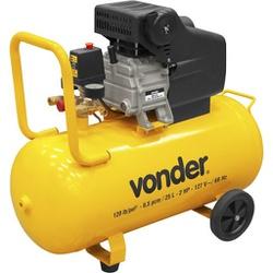 Motocompressor de Ar 6,5 Pés 2 CV 25 Litros - VONDER-MCV25 - CONSTRUTINTAS