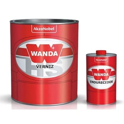 Kit Verniz PU 4100 750ml + Catalisador 3093 150ml Alto Sólidos - Wanda - CONSTRUTINTAS