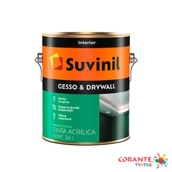 Gesso & Drywall 3,6L Suvinil - Corante Tintas