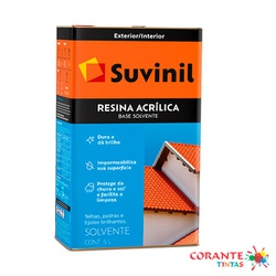 Resina Acrílica Base Solvente 5L Suvinil - Corante Tintas