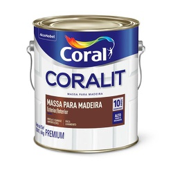 Massa para Madeira 3,6L Coralit - Corante Tintas