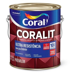 Coralit Acetinado Ultra Resistencia 3,6L Coral - Corante Tintas