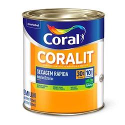 Coralit Acetinado Branco Secagem Rapida 900ML Cora - Corante Tintas