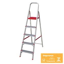 Escada Aluminio 5 degraus Botafogo - Corante Tintas
