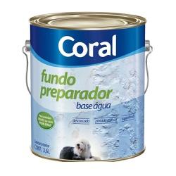 Fundo Preparador Base Agua Coral - Corante Tintas