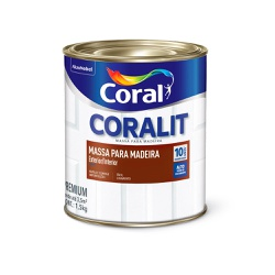 Massa para Madeira 900ml Coralit - Corante Tintas
