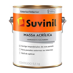Massa Acrílica 5,5Kg Suvinil - Corante Tintas