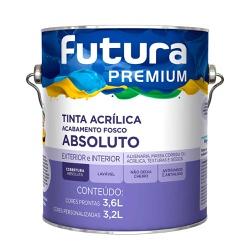 Fosco Absoluto Premium Branco 3.6L Futura - Corante Tintas