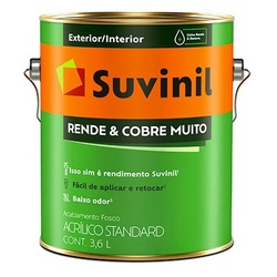 Rende e Cobre Muito 3,6L Suvinil - Corante Tintas
