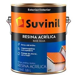 Resina Acrílica Base Água 3,6L Suvinil - Corante Tintas