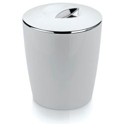 Lixeira Cromo Vitra 5 Litros Branca-Martiplast - Cores Vivas Home Center