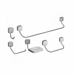 Kit Acessórios para Banheiro Zip 5 Peças Cromado B... - Cores Vivas Home Center