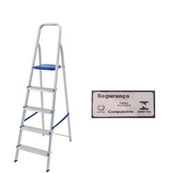 Escada Alumínio 5 Degraus-Mor - Cores Vivas Home Center