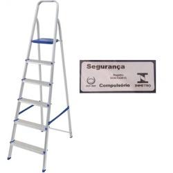 Escada Alumínio 6 Degraus-Mor - Cores Vivas Home Center
