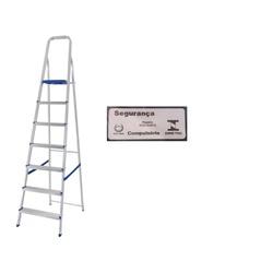 Escada Alumínio 7 Degraus-Mor - Cores Vivas Home Center