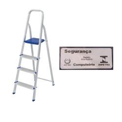 Escada Alumínio 4 Degraus-Mor - Cores Vivas Home Center
