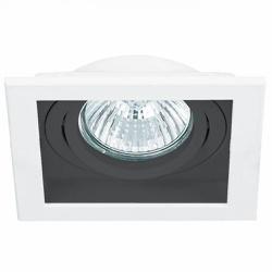 Spot Embutir Quadrado Conecta 1xar70 Branco/Preto-... - Cores Vivas Home Center